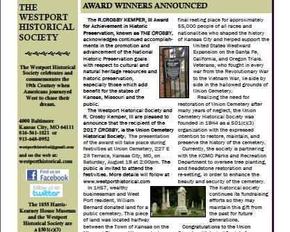 August 2017 Westporter Newsletter