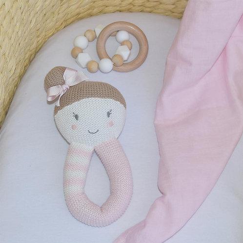 Sophie Ballerina Rattle & Muslin Wrap
