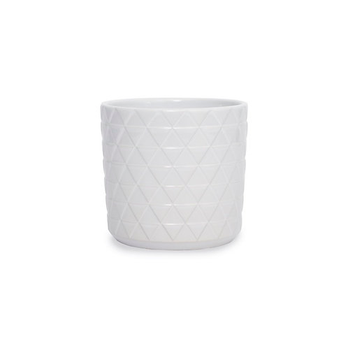 Ceramic Epping Pot White - 14.5Dx14.5cmH