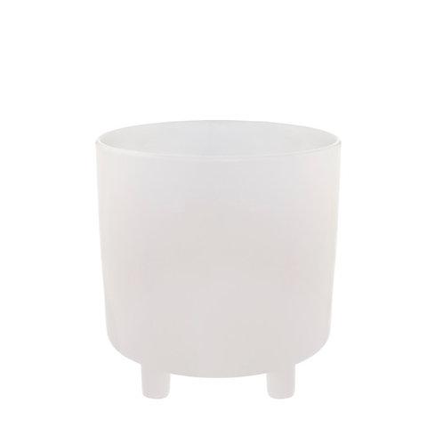 Ceramic Premium Cresta Pot White - 20.5x20.5cmH