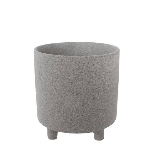 Ceramic Premium Cresta Pot Grey - 20.5x20.5cmH