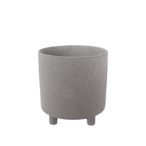 Ceramic Premium Cresta Pot Grey - 15.5x15.5cmH
