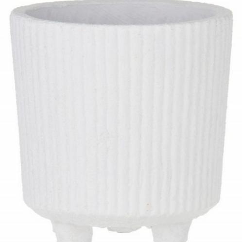 Rogue Aurora Pot - 14x14x15cm White