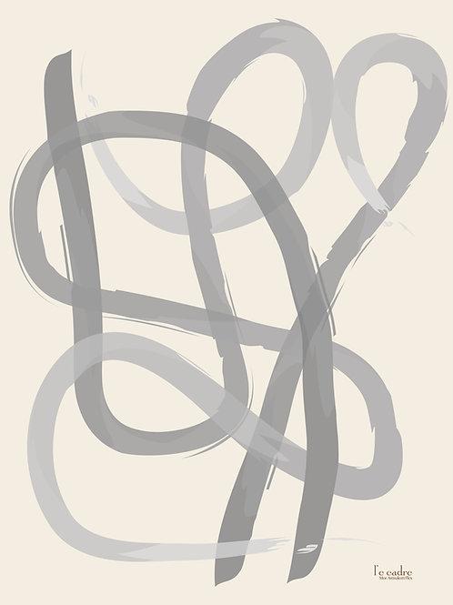 אומנות מופשטת של קו מפותל כמו רקדנית בלט