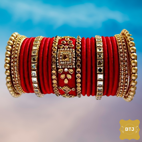 Dark Red Bridal Bangles (B59)