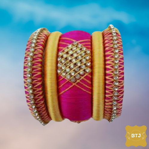 Pink Golden Bangles (B19)