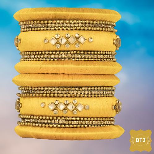 Full Yellow Color Bangles (B62)