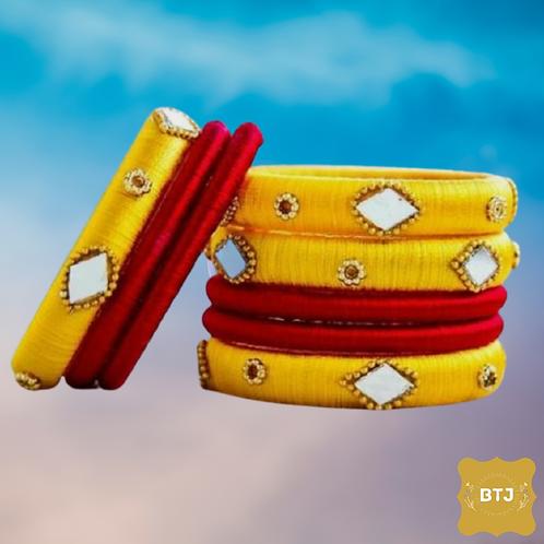 Yellow Red Bangles (B33)