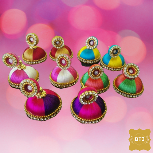 Multicolor Jhumka Earrings (E13)