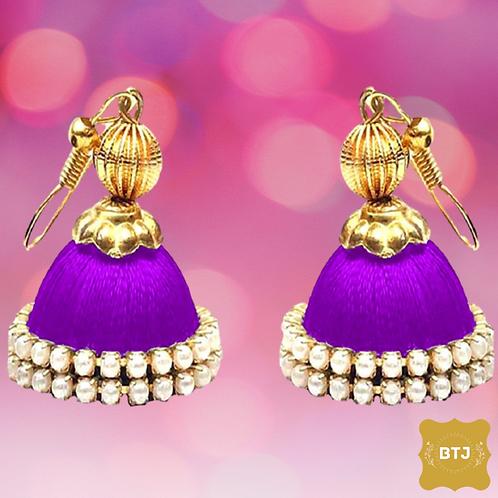 Purple Jhumka Earrings (E31)