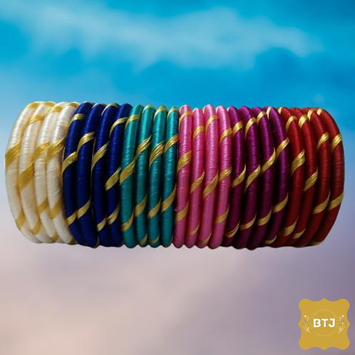 Multicolor Golden Strip Bangles (B06)