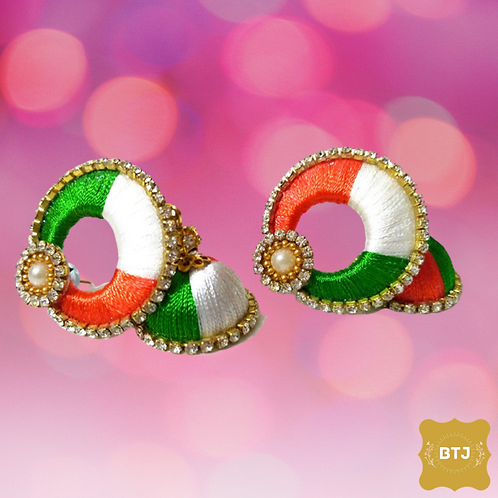 Indian Flag Theme Earrings (E28)
