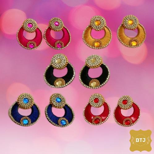 Multicolor Chandbali Earrings (E12)