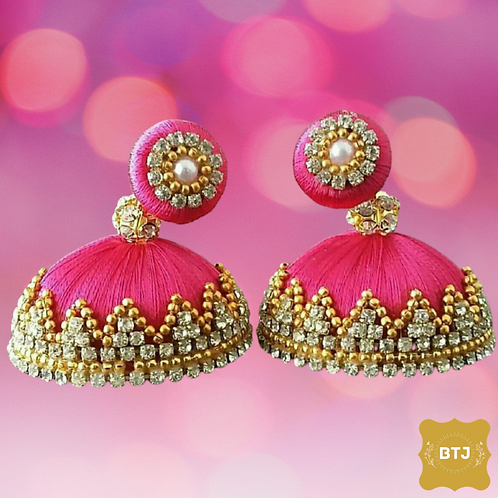 Pink Golden Earrings (E16)