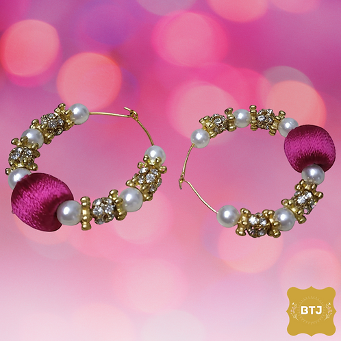 Purple Pearl Earrings (E23)