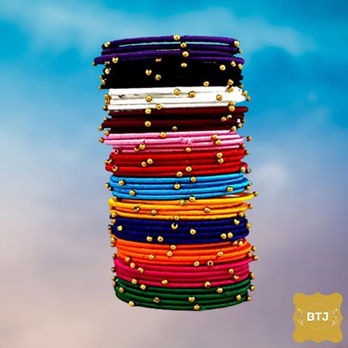 Multicolor Golden Pearl Bangles (B68)