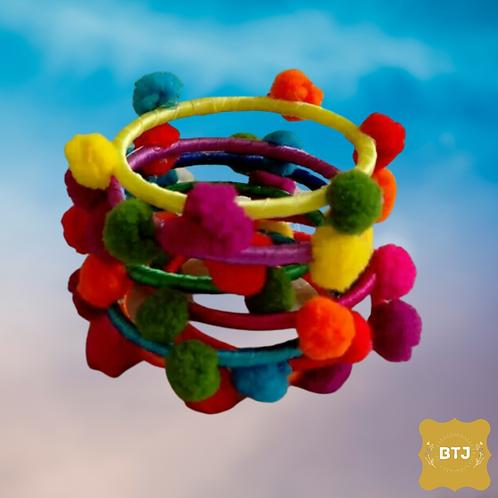 Navratri Special Multicolor Bangles  (B28)