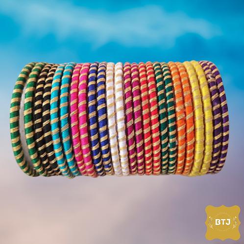 Multicolor Golden Strip Bangles (B14)