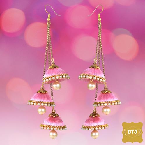 Pink Bells Earrings (E30)