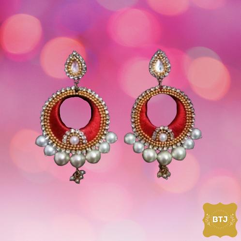 Moti Chandbali Earrings (E18)