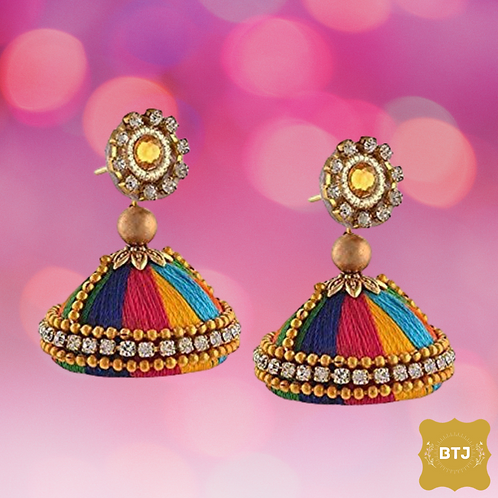 Multicolor Jhumka Earrings (E35)