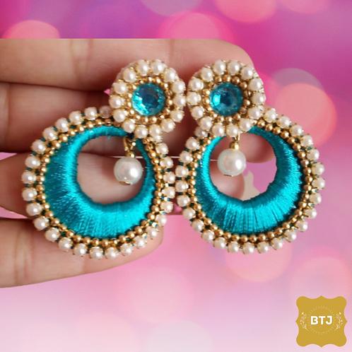 Moti Chandbali Earrings (E21)
