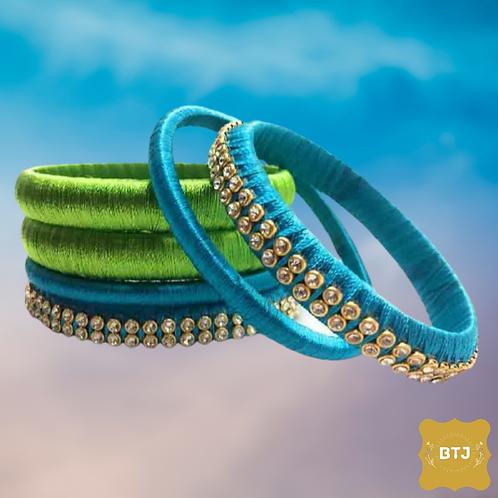 Peacock Theme Bangles (B46)