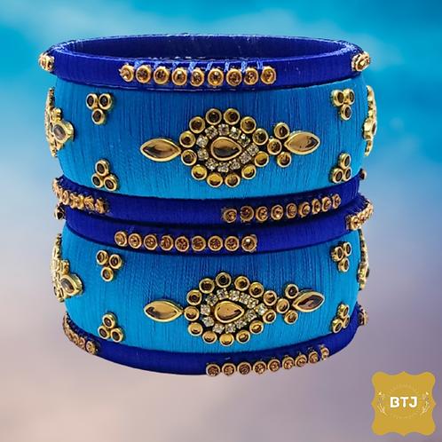 Blue Shade Bangles (B52)