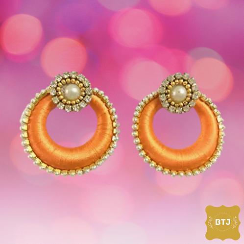 Orange Chandbali Earrings (E04)