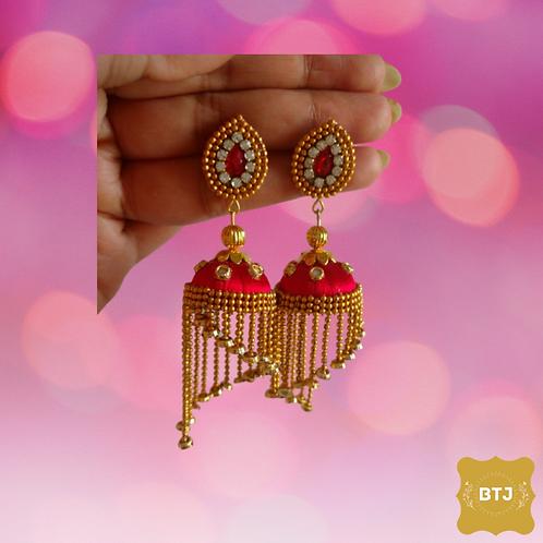 Spiral Designed Jhumka Earrings (E19)