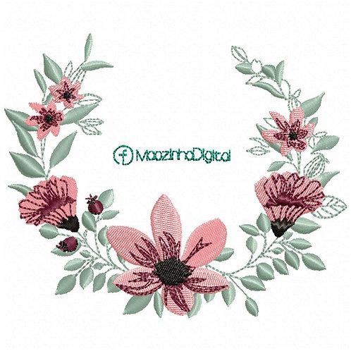 Moldura Flores BF007 - 13cm