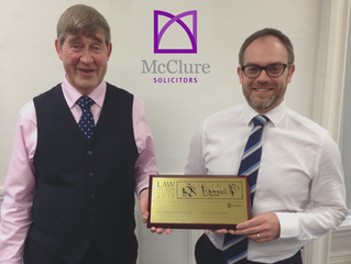 McClure wins High Street Firm of the Year Award for 2017!