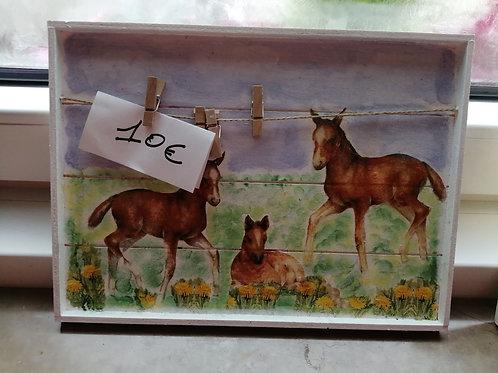 "Porte photos ""chevaux"""