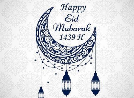 Happy Eid Mubarak 1439H / 2018