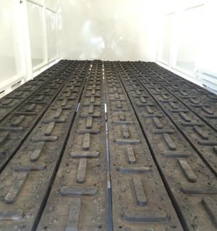 Rumbar flooring in a trailer