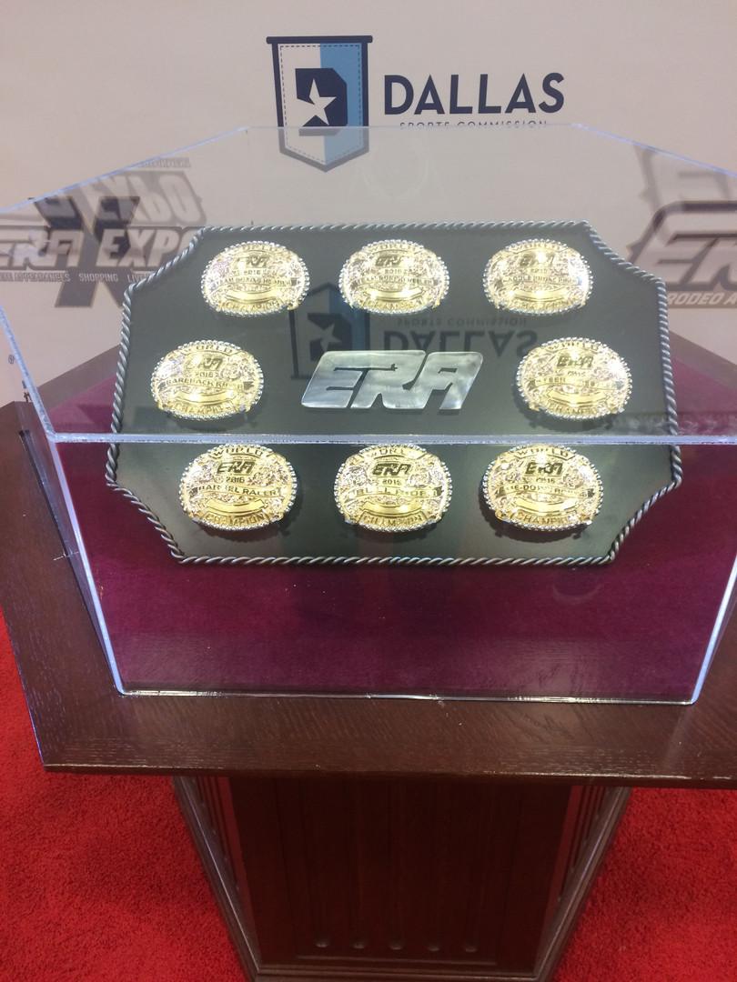 Championship Buckle Display