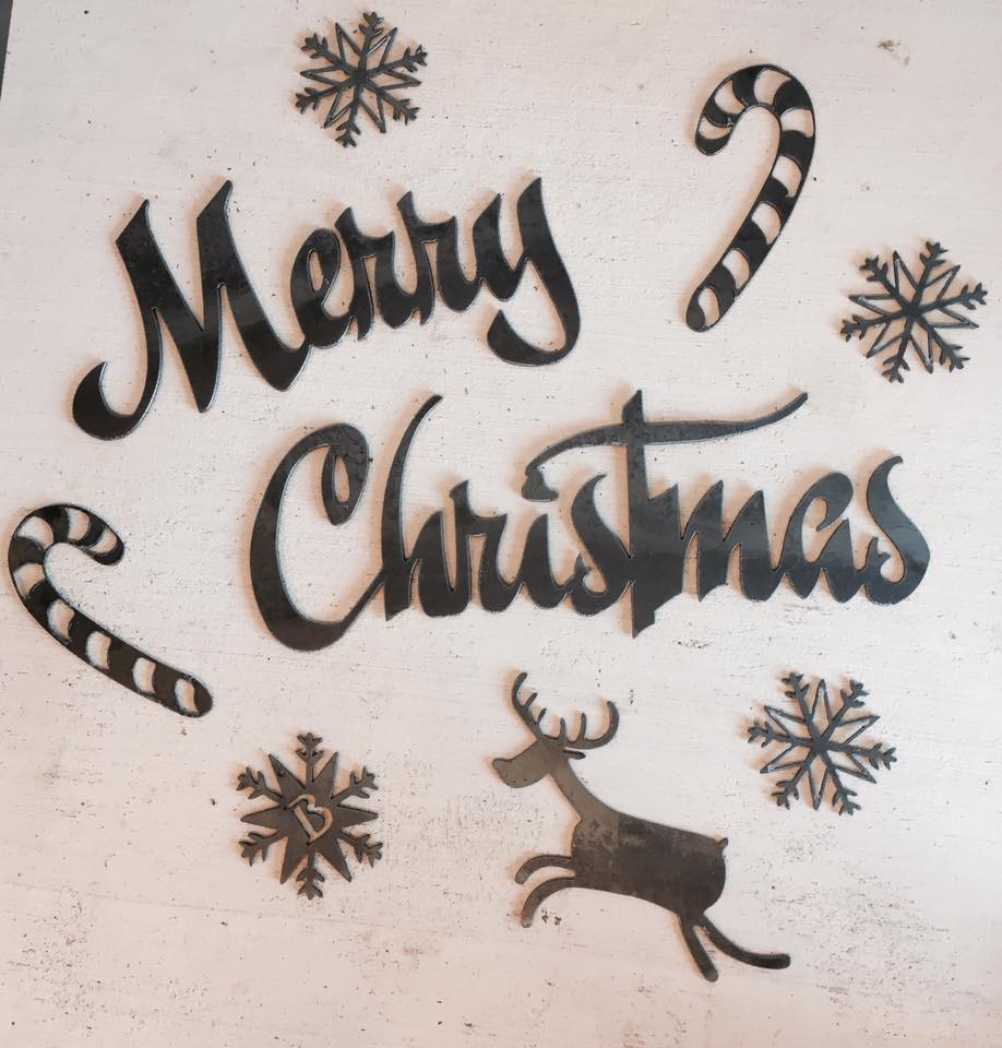 Create your own holiday and christmas metal designs for decoration, ornaments, gifts, and more.