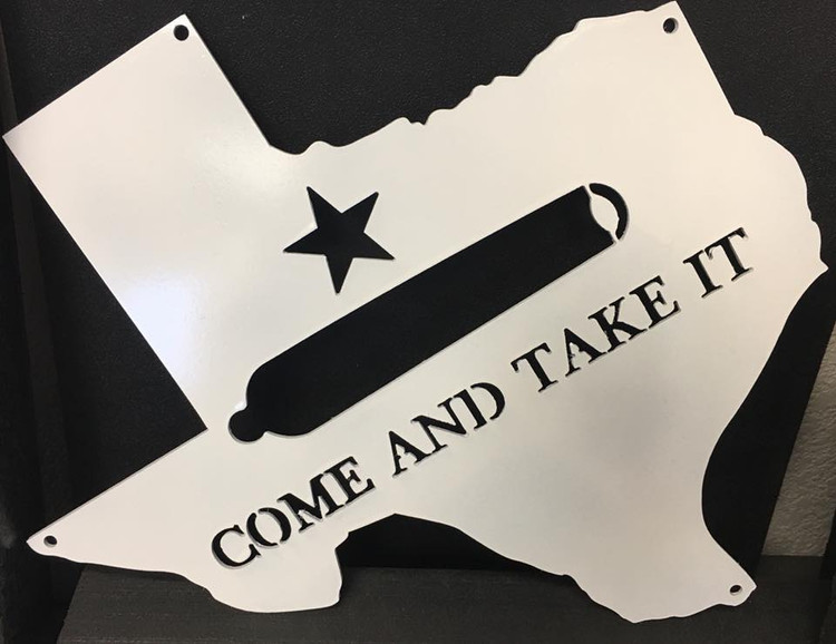 come and take it sign