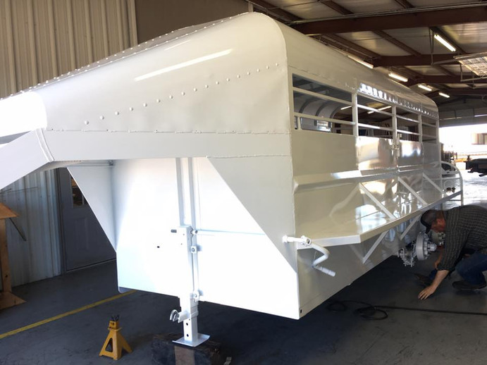 Custom trailer restoration project for horse trailer in Hood County Texas