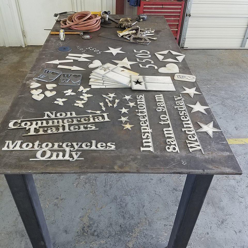 CNC machine cutouts