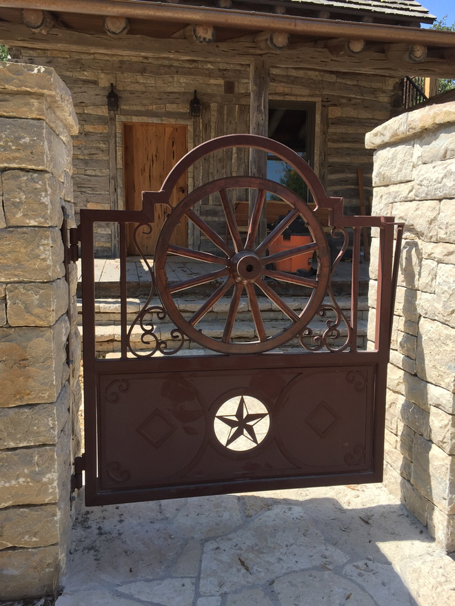 Wagon Wheel Rustic Gate Restoration That Brings You Back to a Simpler Time