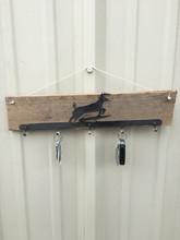 Deer Cutout Key Ring Holder