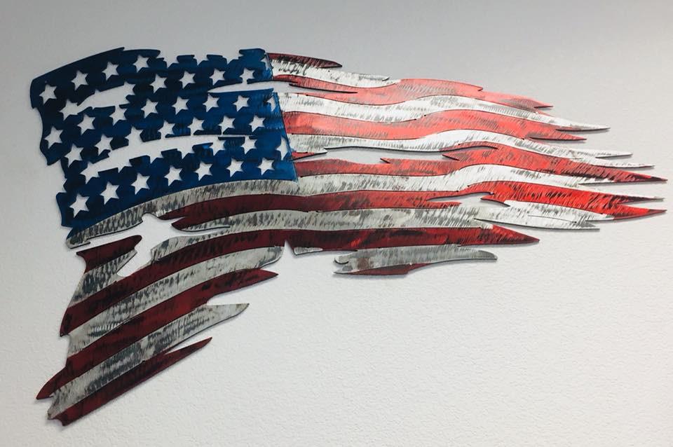American flag metal wall decor | Granbury, TX