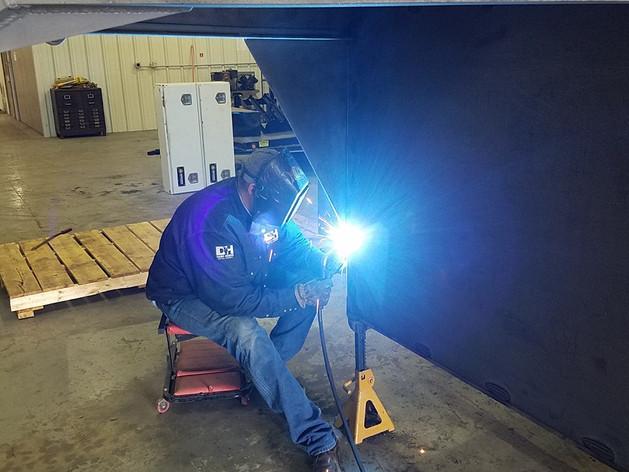 Welding on-site