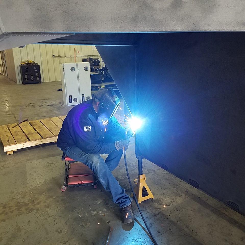 Custom trailer repair welding project