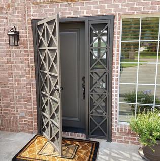 metal door way