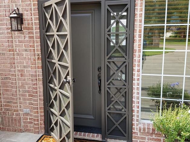 custom door way - wrought iron art & design