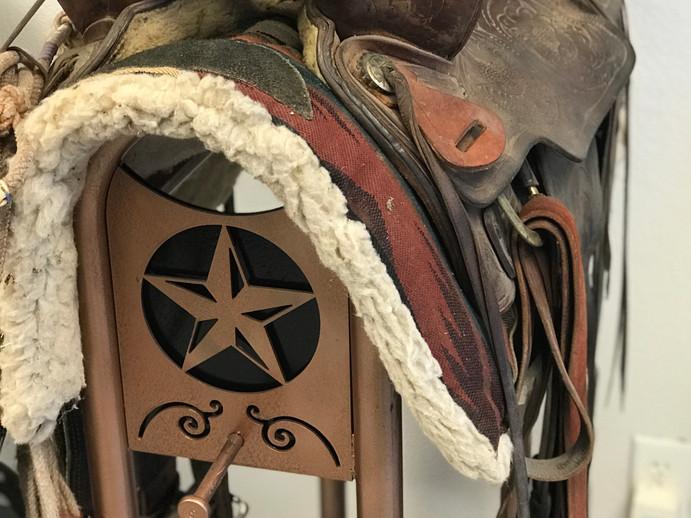 Custom Saddle Rack with Brand
