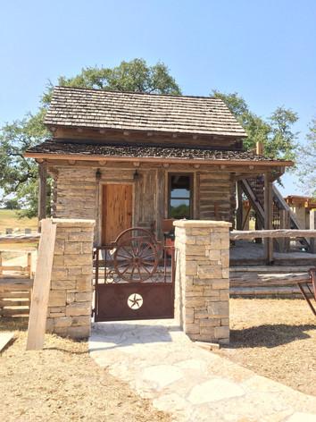 Wagon Wheel Gates on Comanche Peak home restoration
