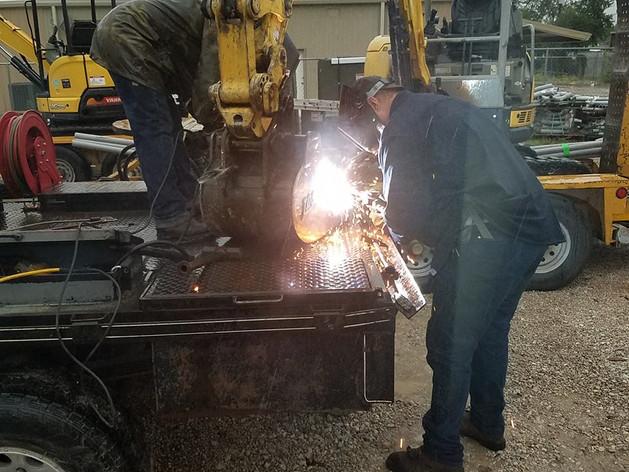 Crane repair welding